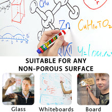 Load image into Gallery viewer, LuluPlus Dry Erase Markers, 12 pcs Board Markers with Low-Odor Ink, Erasable Window Markers for Glass, Mirrors, Whiteboards and Non-Porous Surfaces