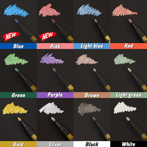 PuTwo Medium Tip Metallic Marker 12 pcs