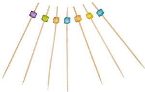 PuTwo Party Frilled Toothpicks, Sandwich, Cocktail, Appetizer Picks Party Supplies 100 Count - Multiple Color - PuTwo  - 4