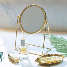 画像をギャラリービューアに読み込む, PuTwo Beauty Cosmetic Mirror, Ornate Decorative , Princess Style Single-Sided Mirror - Champagne Gold