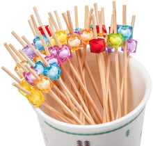 Laden Sie das Bild in den Galerie-Viewer, PuTwo Party Frilled Toothpicks, Sandwich, Cocktail, Appetizer Picks Party Supplies 100 Count - Multiple Color - PuTwo  - 2