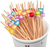 PuTwo Party Frilled Toothpicks, Sandwich, Cocktail, Appetizer Picks Party Supplies 100 Count - Multiple Color - PuTwo  - 2
