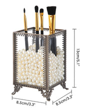 画像をギャラリービューアに読み込む, PuTwo Makeup Organizer Vintage Make up Brush Holder with Free White Pearls - Small