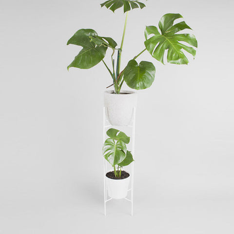 Two-tiered plant stand