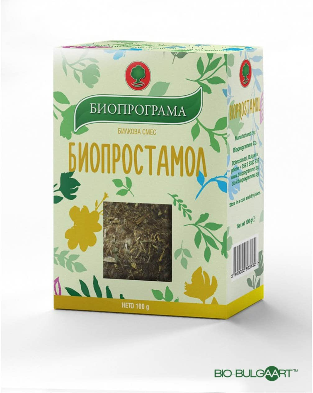 Bioprostamol Tea 100g |  Prostate Function Urination Loose Leaf Epilobium Parviflorum Knotweed Golden Rod