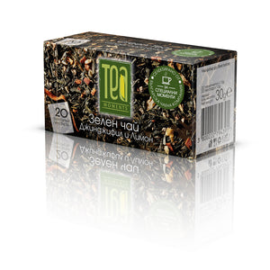 Green Tea Ginger Lemon 30g | Tea Moments 20 Bags