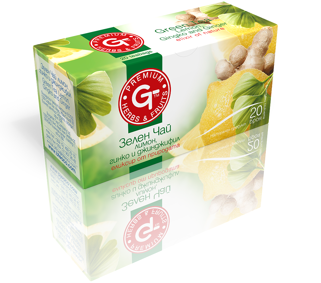 Green Tea with Ginger Lemon Mix 20 Bags | GT Series 30g - Kuker Shop