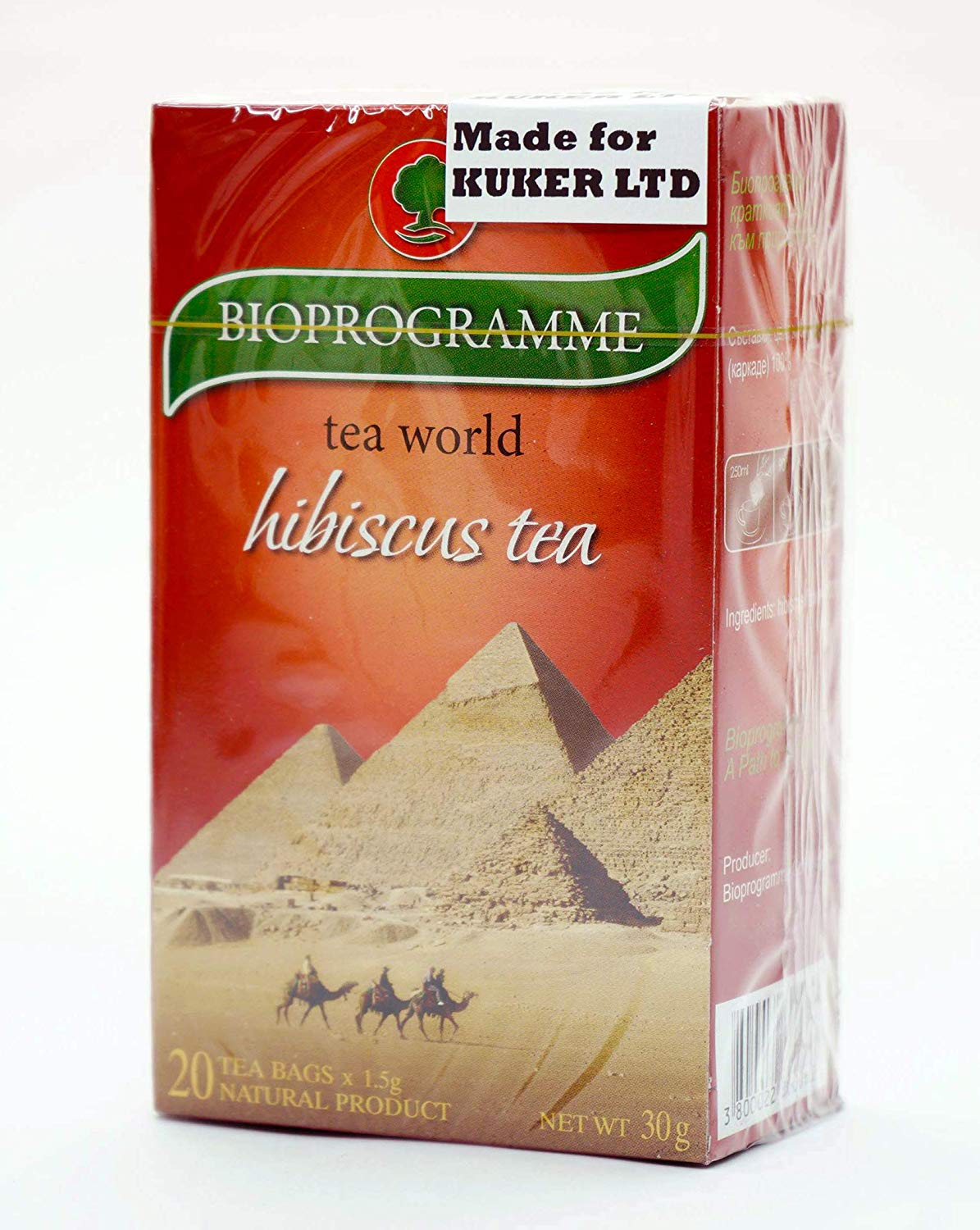 Hibiscus Tea Herbal Tea Bagged 20 Bags 30g - Kuker Shop