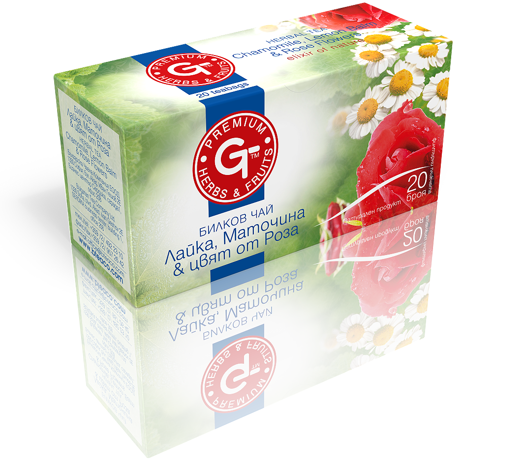 Chamomile Rose Lemon Balm Tea 20 Bags | GT Series 30g - Kuker Shop