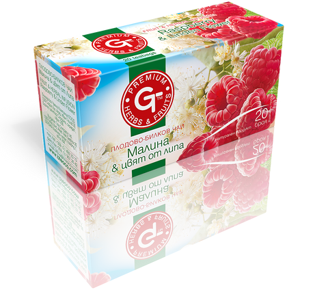 Linden Raspberry Tea Bags 20 | GT Series 30g - Kuker Shop