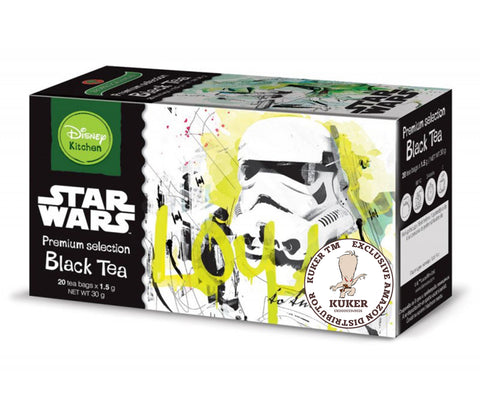 Star Wars Black Tea 30g | Disney Kitchen Dart Vader Stormtrooper Dark Side Tea 20 Bags - Kuker Shop