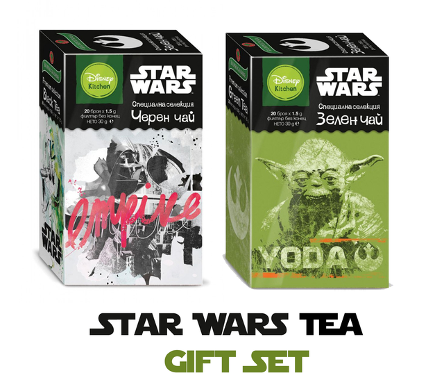 Dart Vader & Yoda Tea 60g | Disney Kitchen Black Tea Green Tea 40 Bags - Kuker Shop