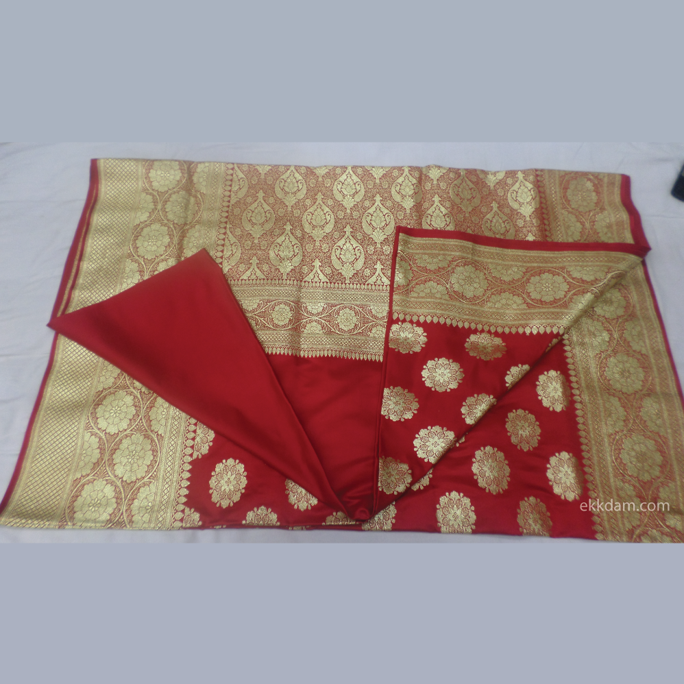 Sattin Banarasi Wedding Saree 2381 @ 500 Taka Coupon