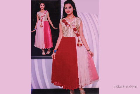 Gown frock (INDIAN) M-246 @ 50 Taka Coupon