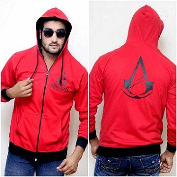 Assassins Creed Red Color Hoodie Max685 @ 9 Taka Coupon
