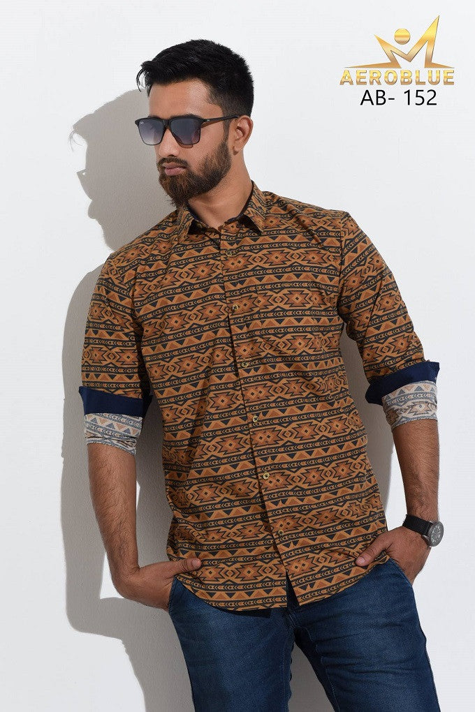 Aeroblue Eid Collection Gents Shirt A21 @ 10 Taka Coupon