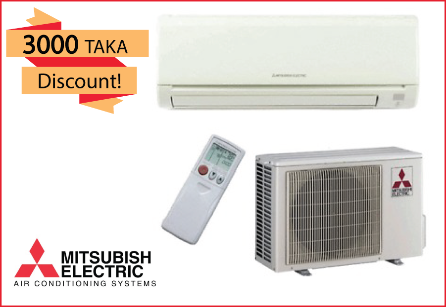 Lovely MITSUBISHI Electric Air Conditioner 1.5 Ton @ 2000 Taka Coupon