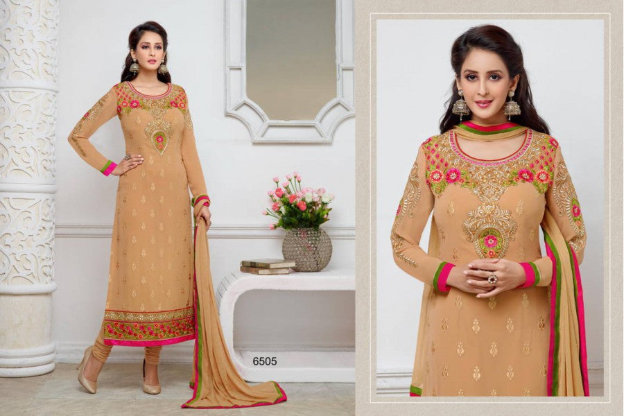4 Pieces Salwar Kameez with semiz 6505 @ 150 Taka Coupon