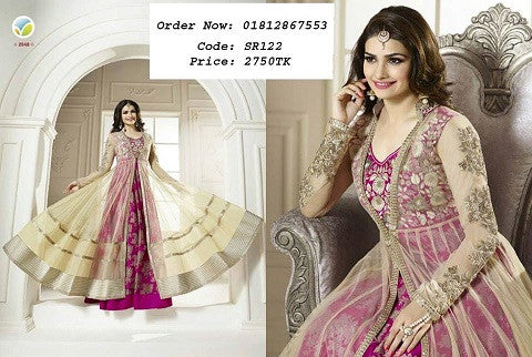Online Dress Collection Long Georgette Double Part Three Piece ODC9 @ 27 Taka Coupon