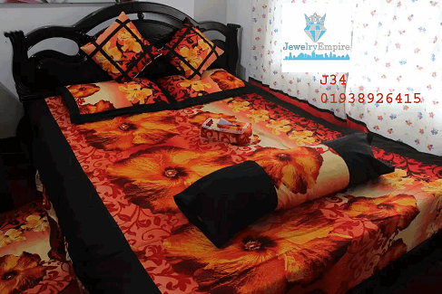 Bed Sheet - 8 Pieces Set J34 @ 50 Taka Coupon