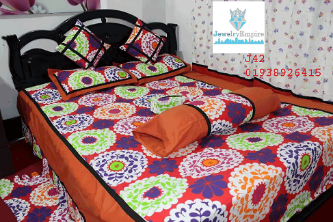 Bed Sheet - 8 Pieces Set J42 @ 50 Taka Coupon