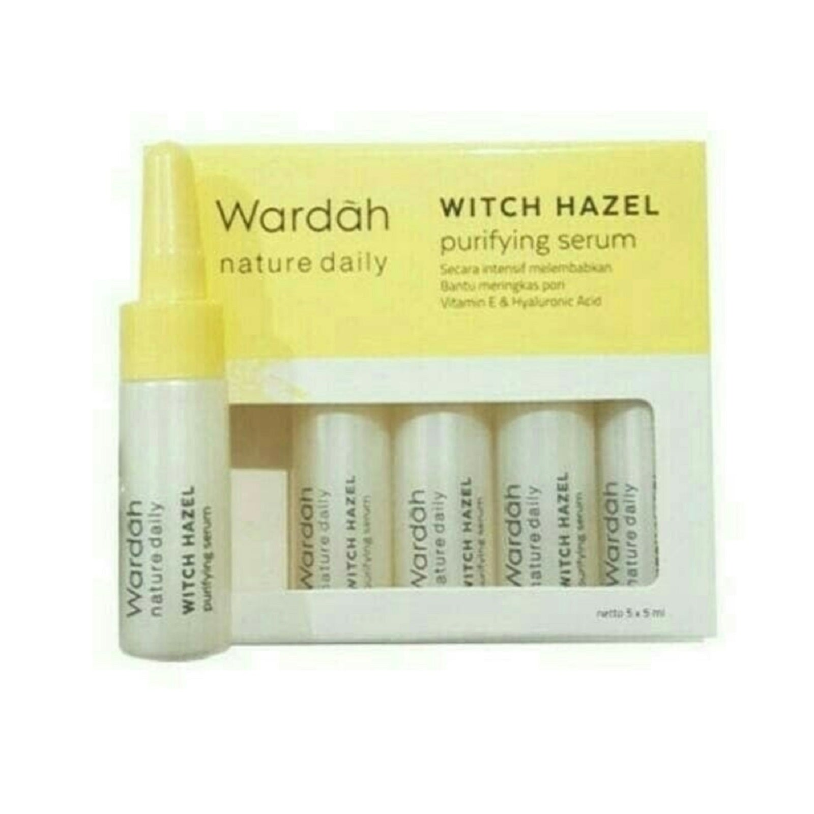 Wardah Nature Daily Witch Hazel Purifying Serum 5x50ml