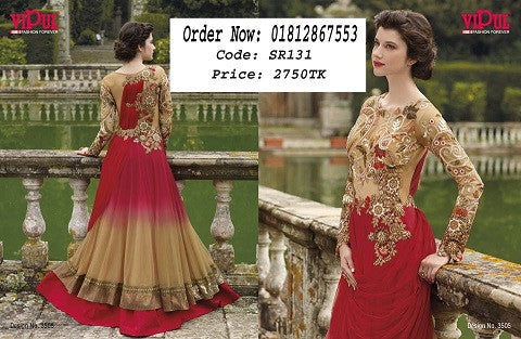 d48ab483b6 Online Dress Collection Georgette Long Three Piece ODC7 @ 27 Taka Coupon
