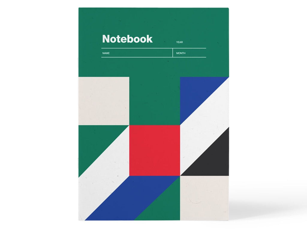 notebook a5 grid paper green onion studio
