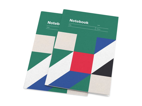 Notebook A5 Grid Paper - Green