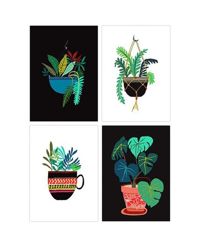 Pot Plant Series Art Postcard Pack