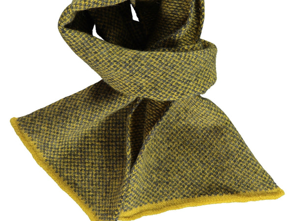 Check Lambswool Scarf - Yellow