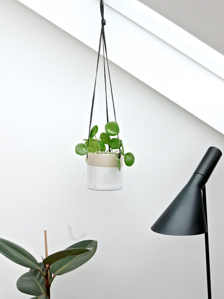 Ceramic Hanging Planter White Large