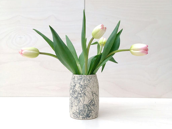 Bottle Stem Vase -Scribble