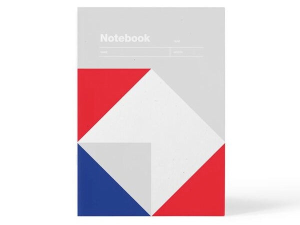Notebook A5 Lined Paper - Grey