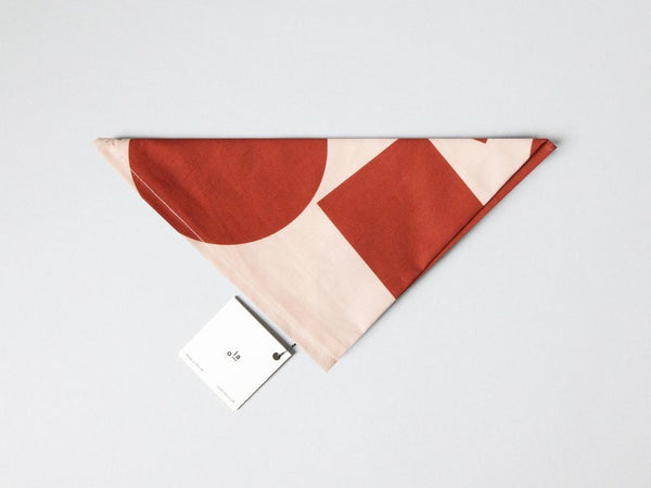 Organic Cotton Wrap Blocks Print in Salmon/Red