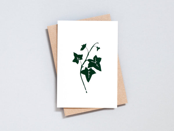 Foil blocked Ivy card - Green on Ivory