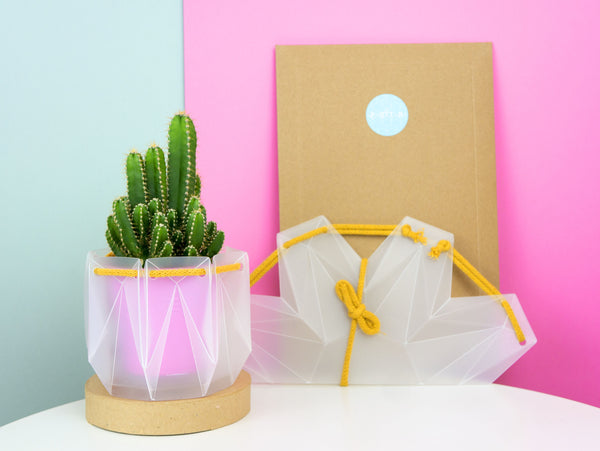 Self-watering Origami Planter - Yellow