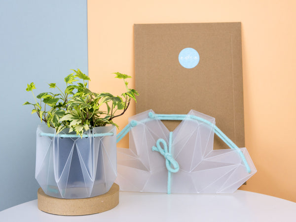 Self-watering Origami Planter - Blue
