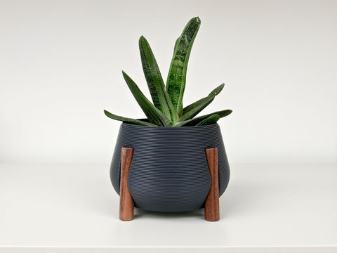 Planter with Walnut Legs (short)