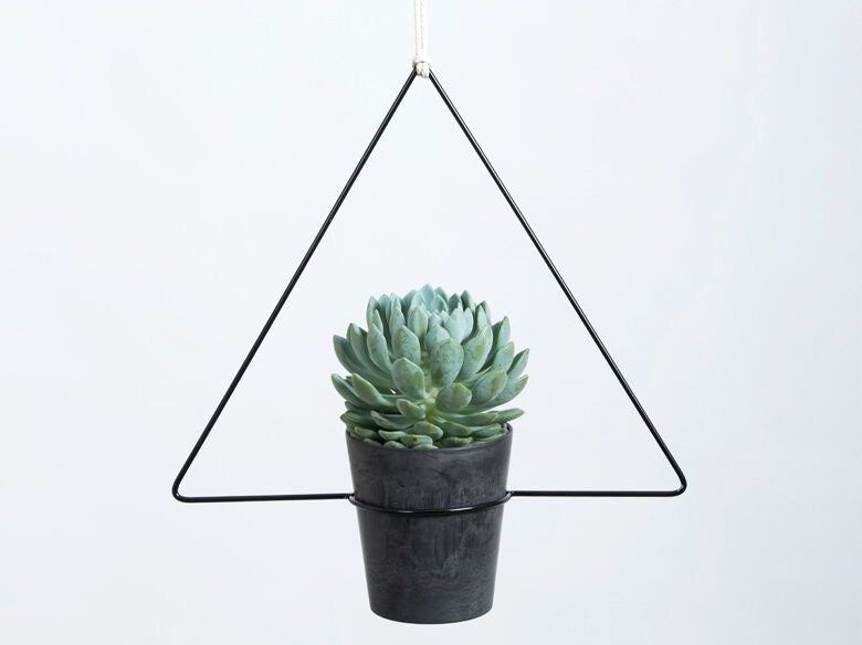 Hanging Planter - Triangula Black