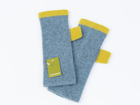 Fingerless Gloves Greyish Blue