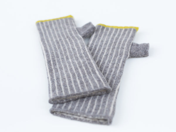 Fingerless Gloves Vole Vertical Striped