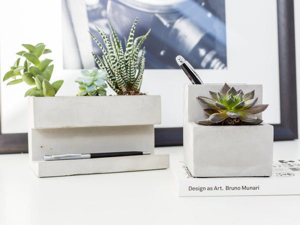 Concrete Desktop Planter (Small)