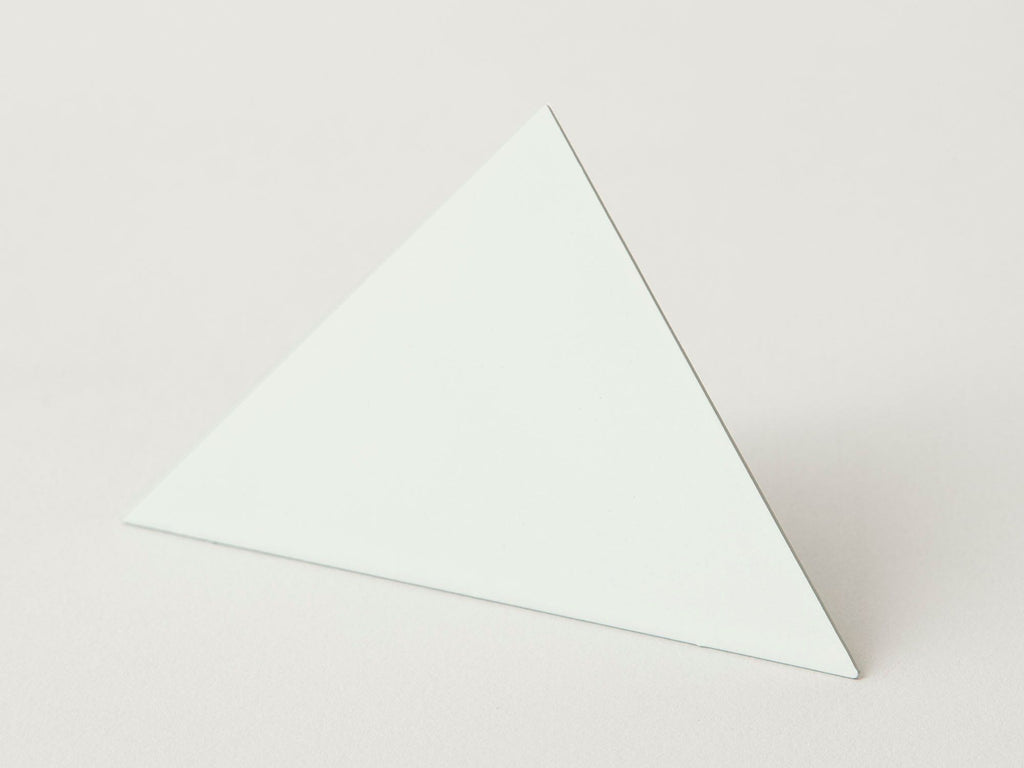 Geometric photo clip - white triangle