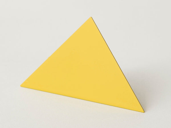 Geometric photo clip - yellow triangle
