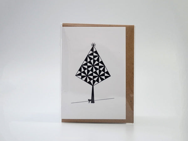 Mini Black Tree with Fox