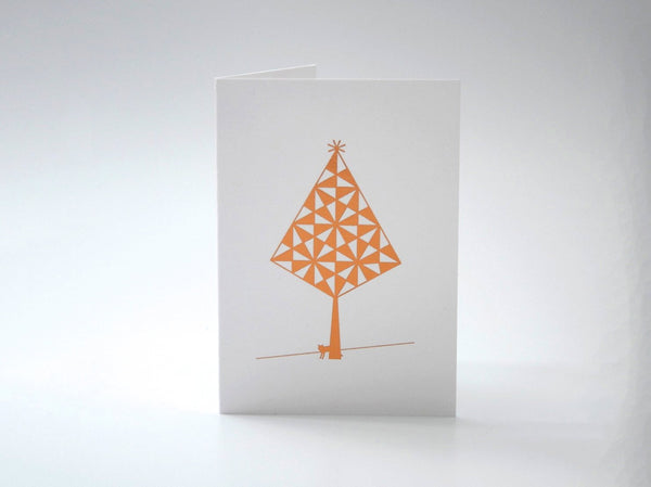 Mini Copper Tree with Fox