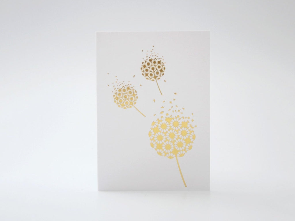 Mini Fleeting Card Gold Foil