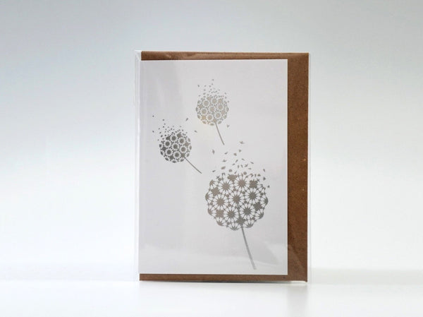 Mini Fleeting Card Silver Foil
