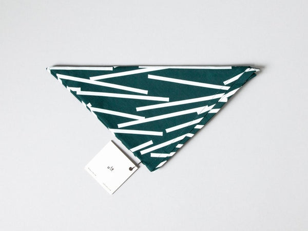 Organic Cotton Wrap Shapes Forest Green